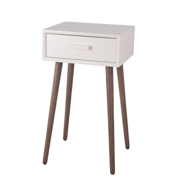 Auerbach Solid Wood End Table with Storage by Corrigan Studio Corrigan Studio