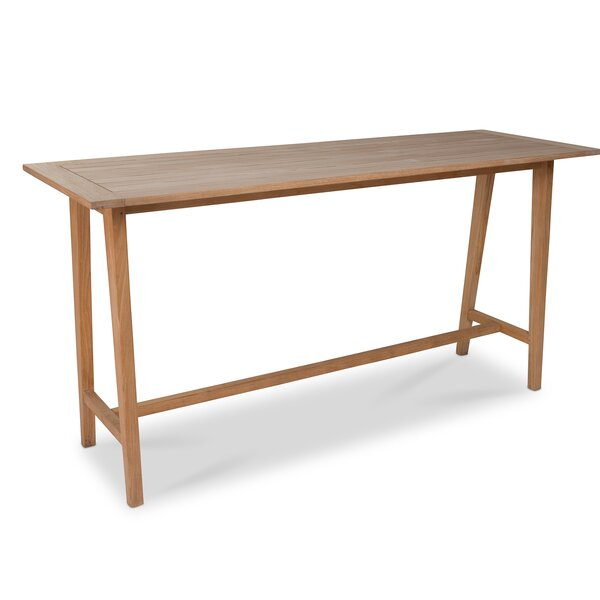 Pardo Teak Bar Table by Red Barrel Studio