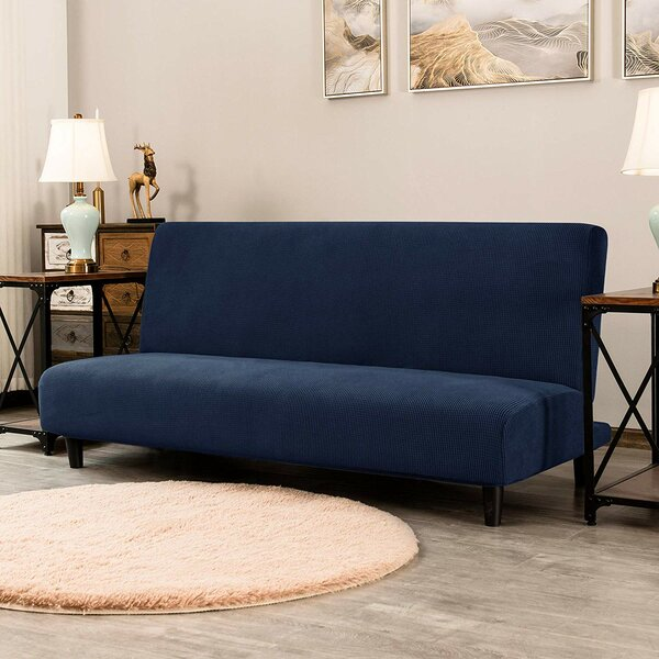 Stretch Jacquard Box Cushion Futon Slipcover By Latitude Run