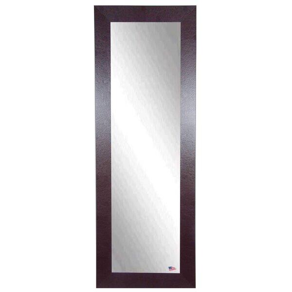 Brown Leather Full Length Body Mirror by Brayden Studio