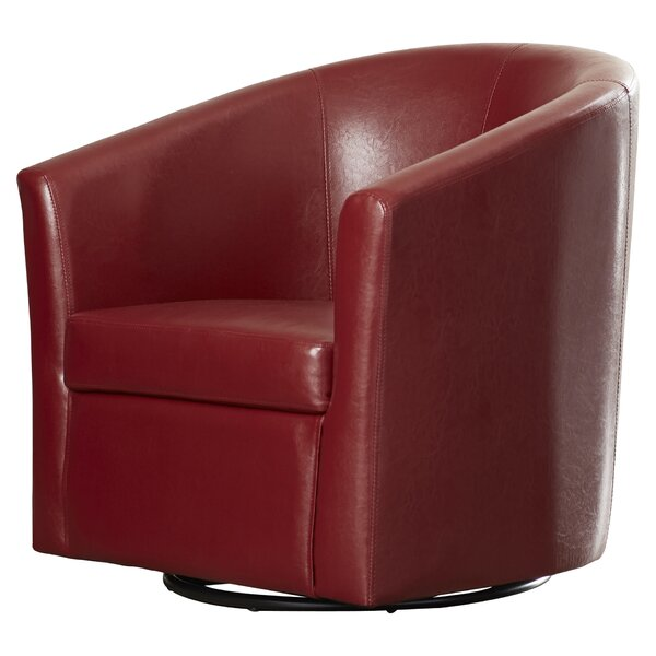 Melvyn Swivel Barrel Chair by Winston Porter Winston Porter