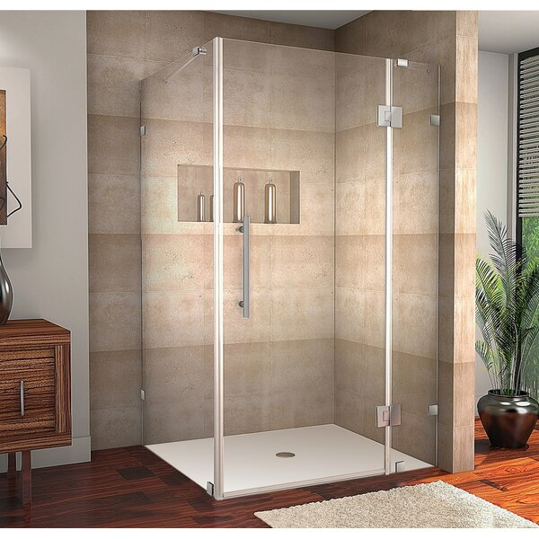 Avalux 42 x 72 Hinged Frameless Shower Door by Aston