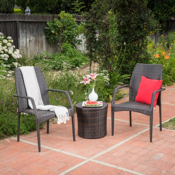 Cabool 3 Piece Rattan Seating Group by Wrought Studio