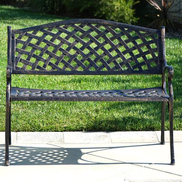 Buckley Cast Aluminum Park Bench by Fleur De Lis Living