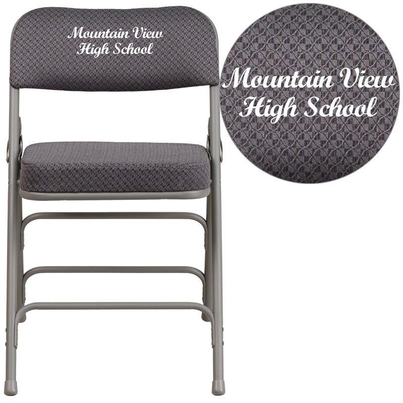 Hercules Series Embroidered Folding Chair
