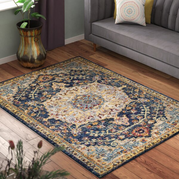 Dickison Blue/Beige Area Rug by Bungalow Rose