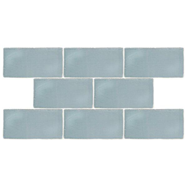 Tivoli 3 x 6 Ceramic Subway Tile in Aqua Blue by EliteTile