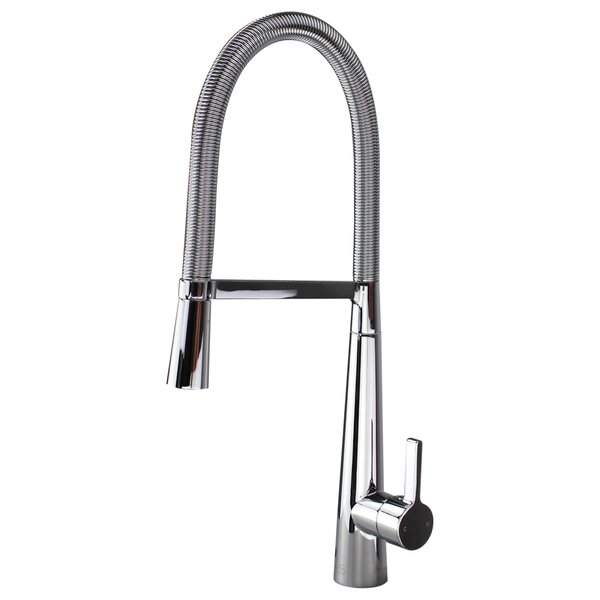 Trattoria Pull Down Single Handle Kitchen Faucet by Transolid