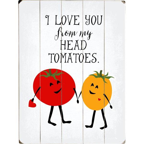 Tomato Love Graphic Art Print Multi-Piece Image on Wood by Artehouse LLC