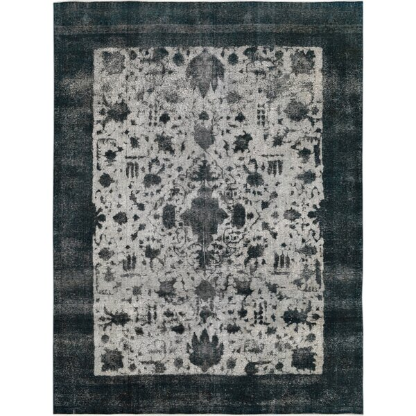 Vintage Hand-Knotted Gray/Blue Area Rug by Wildon Home ®