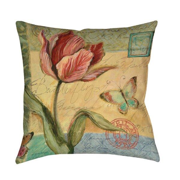 Loretta Tulip Printed Throw Pillow by August Grove