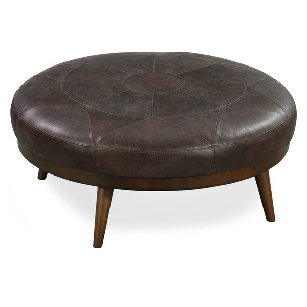 Rowland Leather Cocktail Ottoman by 17 Stories