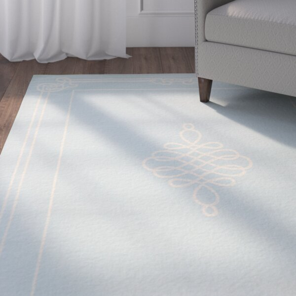 Octavius Soft Blue/Cream Indoor/Outdoor Rug by Charlton Home