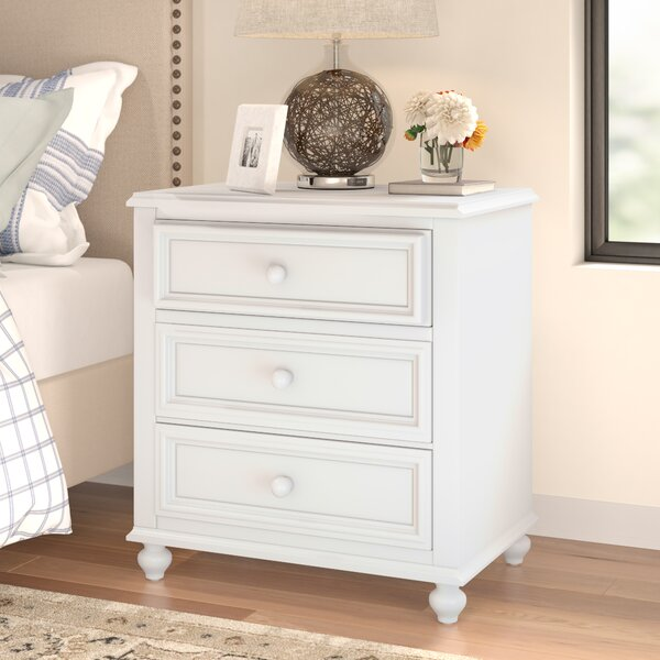New Bedford Wooden 2 Drawer Nightstand by Three Posts