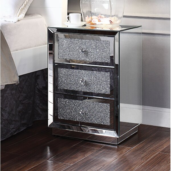 Erkson 3 Drawer Nightstand by Rosdorf Park