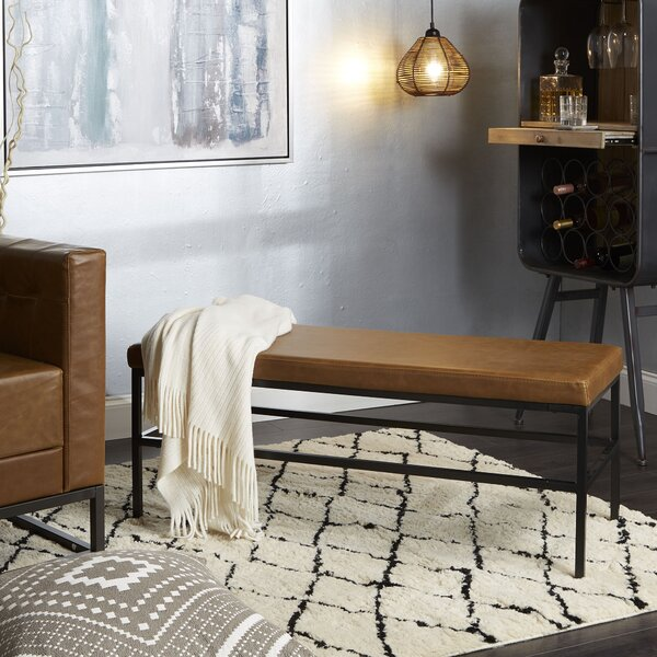 Seman Faux Leather Bench by Williston Forge