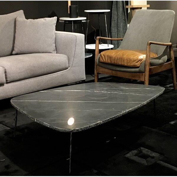Asterope Large Coffee Table with Marble and Iron Legs by Brayden Studio
