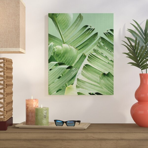 Tropical Leaves 2 Photographic Print on Wrapped Canvas by Bay Isle Home