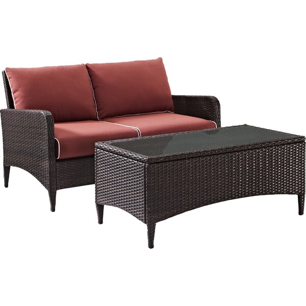 Mosca Traditional 2 Piece Sofa Seating Group with Cushions by World Menagerie