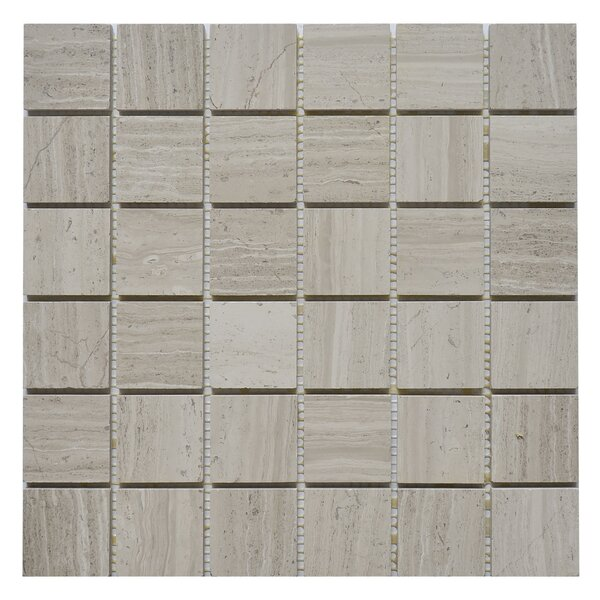 2 x 2 Marble Mosaic Tile in White Oak by Matrix Stone USA