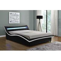 Orren Ellis Queen Sabara Upholstered LED Storage Platform Bed Deals