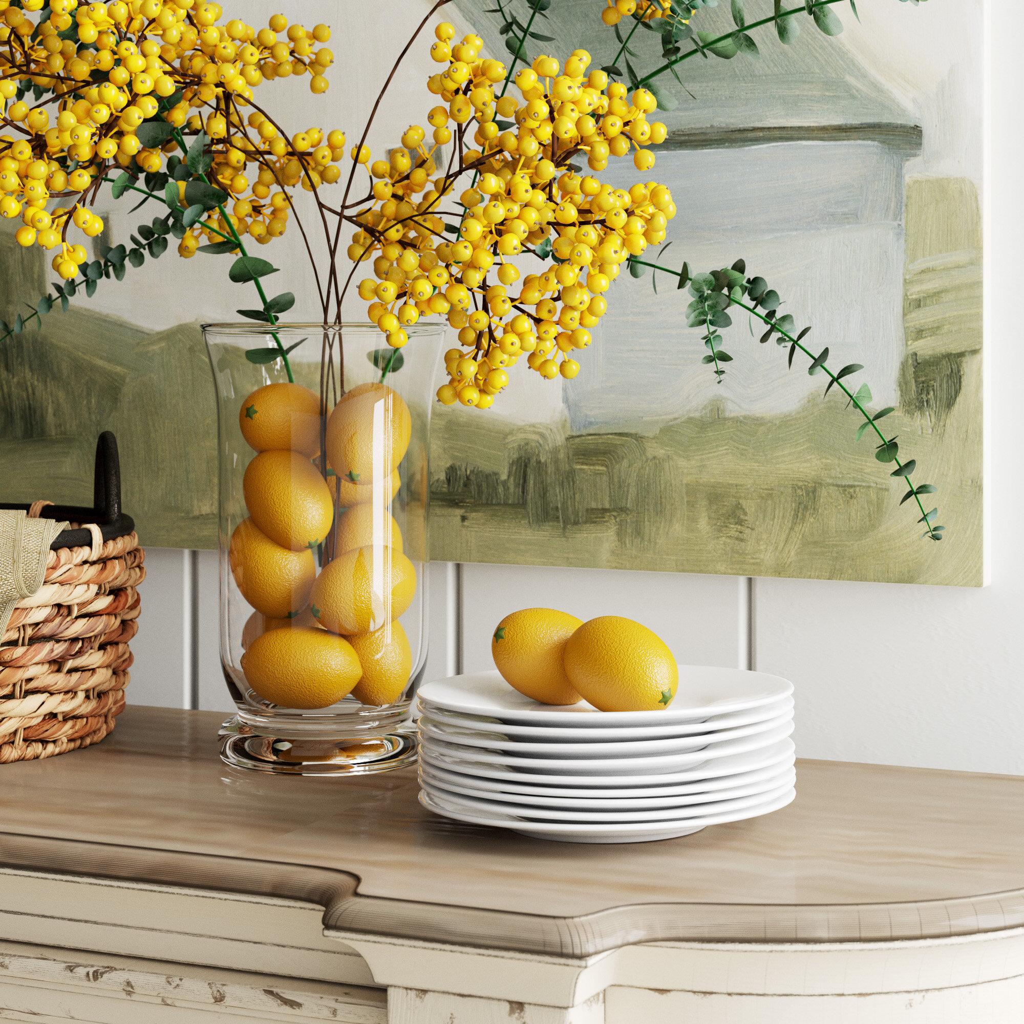 Birch Lane Kwon Decorative Lemons Vase Filler Reviews Wayfair