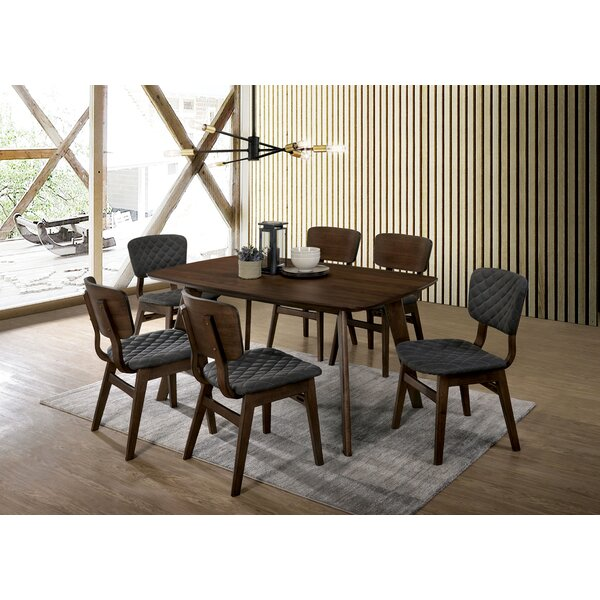 Delatorre 7 Piece Solid Wood Dining Set