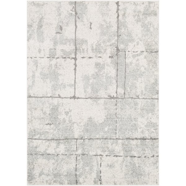 Cateline Distressed Light Gray/Taupe Area Rug by Williston Forge
