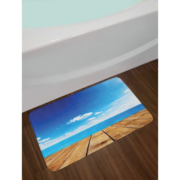 Seascape Landscape Bath Rug by East Urban Home