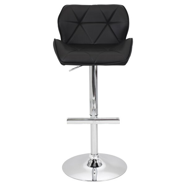 Aceves Adjustable Height Swivel Bar Stool by Orren Ellis