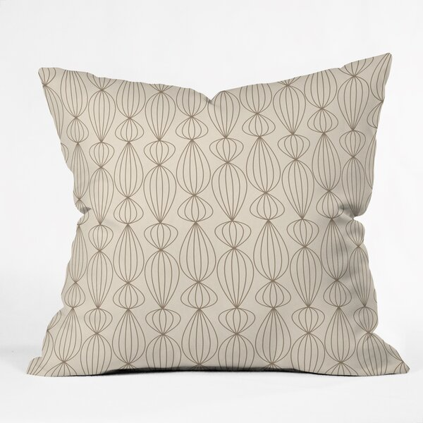 Tyrone Mocha Outdoor Throw Pillow by Corrigan Studio