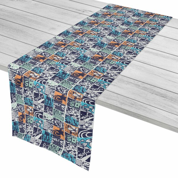 Surfer Surfing Patchwork Table Runner by Island Girl Home