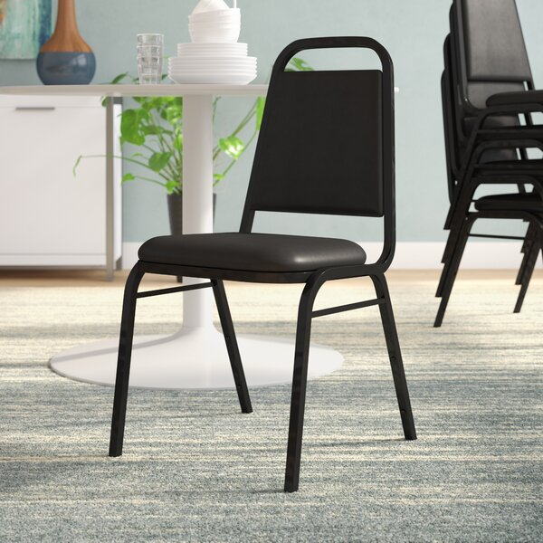Laduke Rectangular Back Banquet Chair with Cushion by Symple Stuff