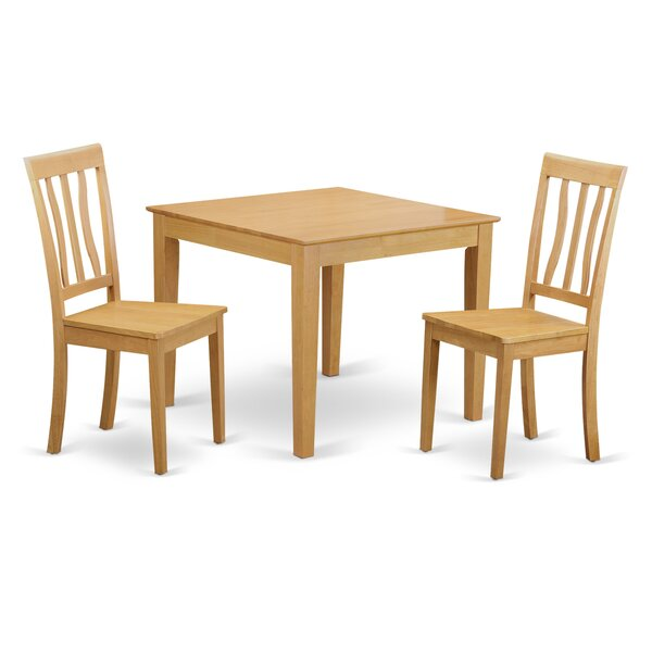 Oxford 3 Piece Dining Set by Wooden Importers