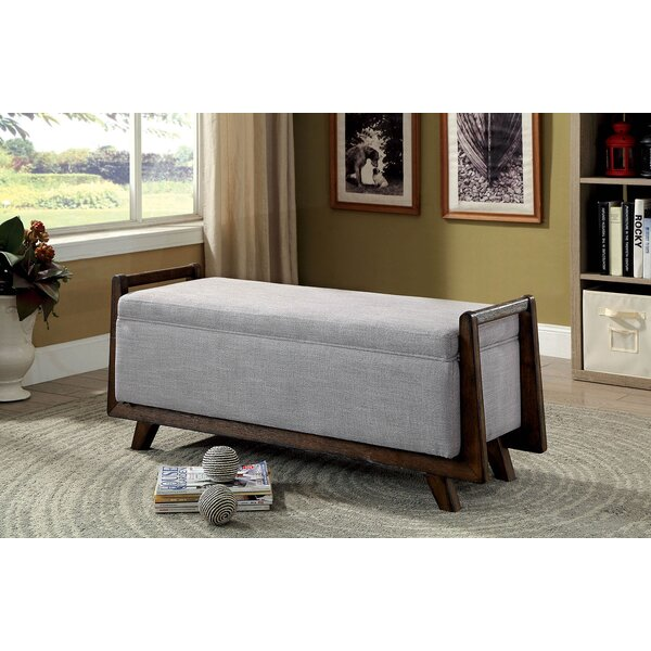 Behnke Fabric Wooden Upholstered Storage Bench by George Oliver