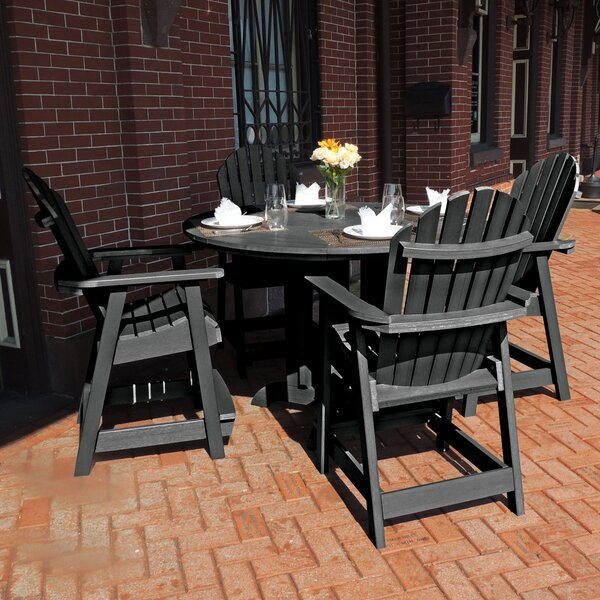 Lea Commercial Grade Adirondack 5 Piece Dining Set by Rosecliff Heights