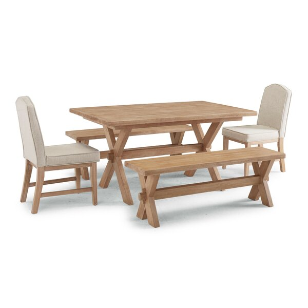 Romford 5 Piece Dining Set by Three Posts