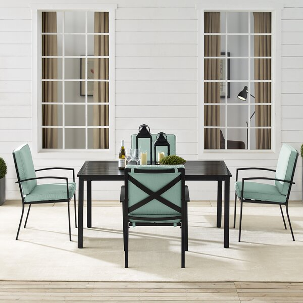Freitag 5 Piece Dining Set with Cushions by Ivy Bronx