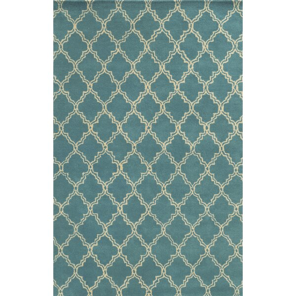Mallorca Hand-Tufted Sky Blue Area Rug by Meridian Rugmakers