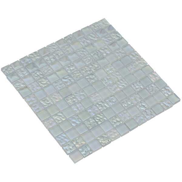 Bella 12 x 12 Glass Mosaic Tile in Aquamarine by Mirrella