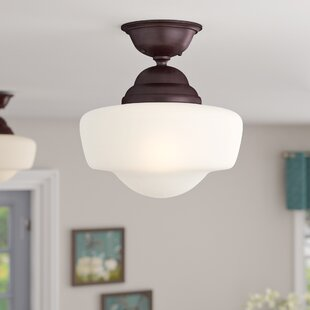 Compare prices Bolden 1-Light Semi-Flush Mount By Andover Mills