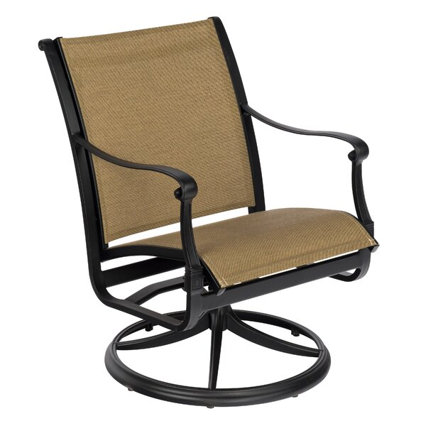 Wiltshire Sling Swivel Patio Dining Chair by Woodard