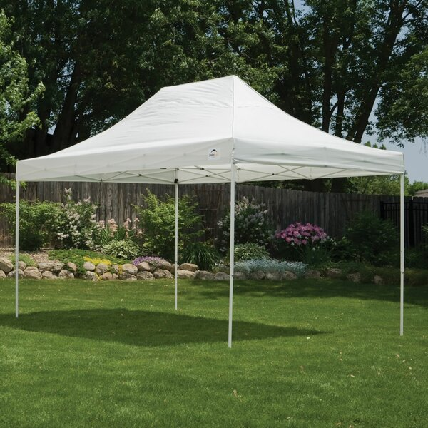 10 Ft. W x 15 Ft. D Steel Pop-Up Canopy by ShelterLogic