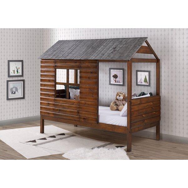 Magana Log Cabin Twin Loft Bed by Zoomie Kids Zoomie Kids