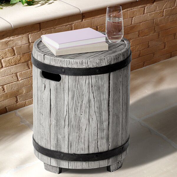 Modena Stone/Concrete Side Table By Ove Decors