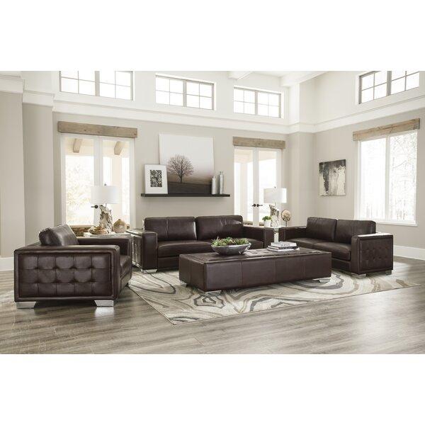 Kuhn Leather Configurable Living Room Set by Brayden Studio