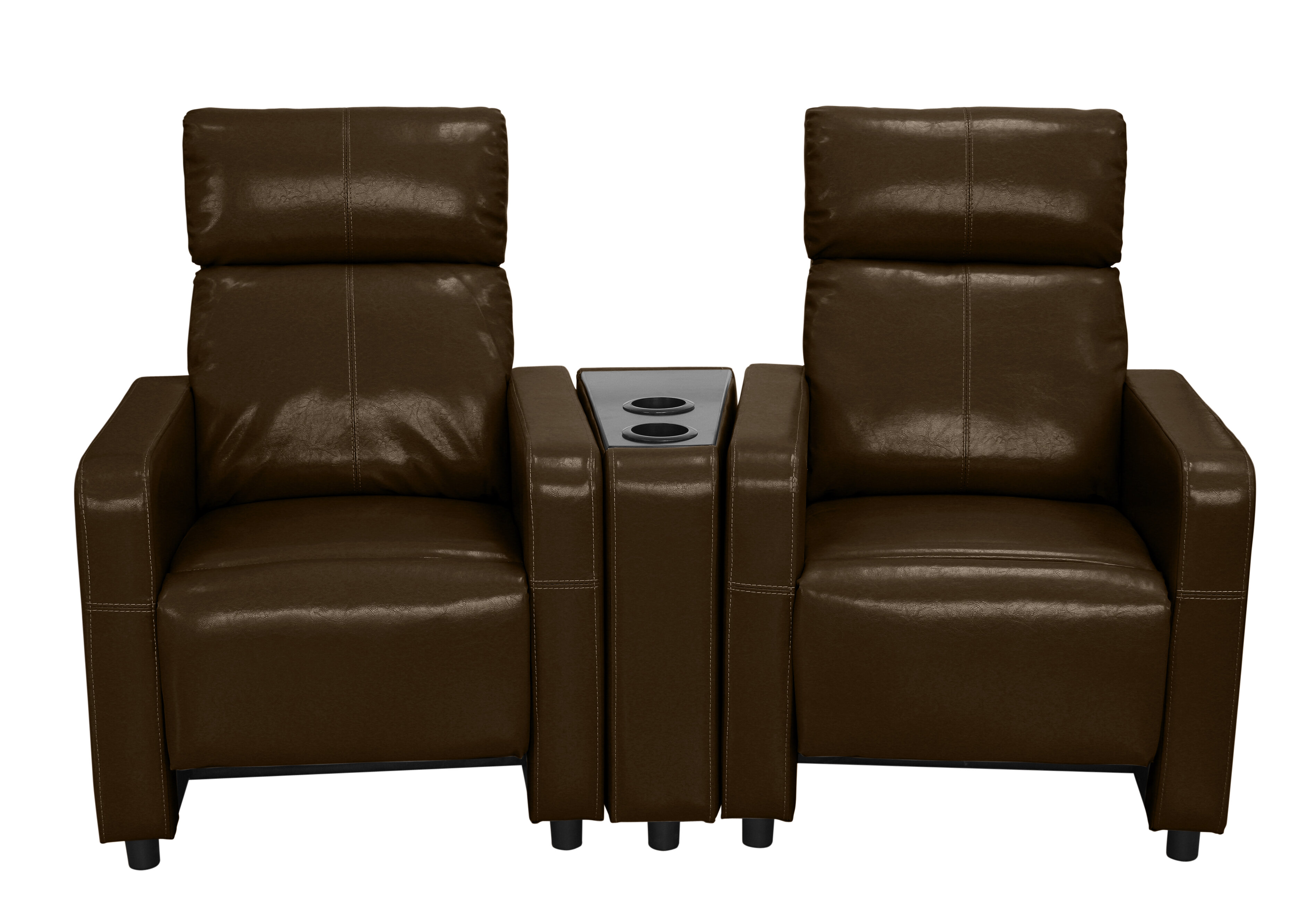 curved turbo recline black theater octane power loveseat home with seating middle premium pin