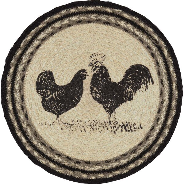 Surikova Poultry Jute Tablemat Placemat (Set of 6) by August Grove