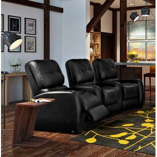 Large Blue LED Home Theater Curved Row Seating Row of 3