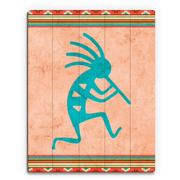 Kokopelli Graphic Art on Plaque by Click Wall Art